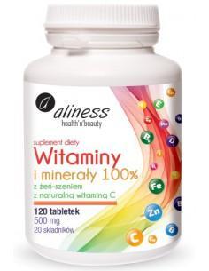 aliness WITAMINY I MINERAŁY 100% z żeń-szeniem i witaminą C
