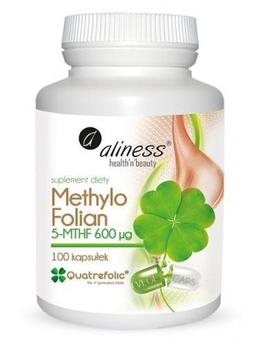 aliness Methylo Folian 5-MTHF 600 µg 100 kapsułek VEGE