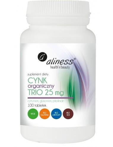 aliness Cynk organiczny TRIO 100 tabl.