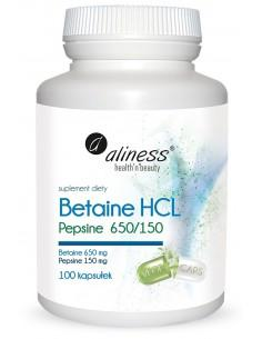 Betaina HCL Pepsine 650/150 aliness