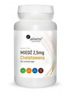 Miedź Chelatowana 2,5 mg 100 tabl. alines