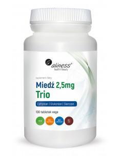 Miedź trio 2,5 mg 100 tabl. alines
